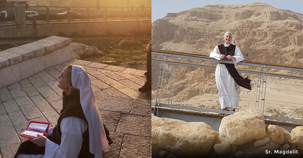 Dr  Anthony Lilles & Sr  Magdalit Holy Land Pilgrimage with
