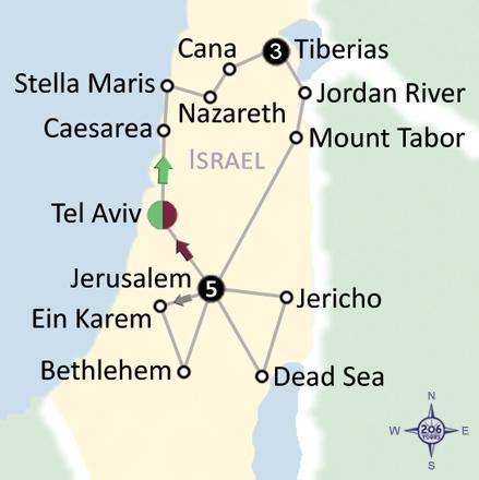 pilgrimage map
