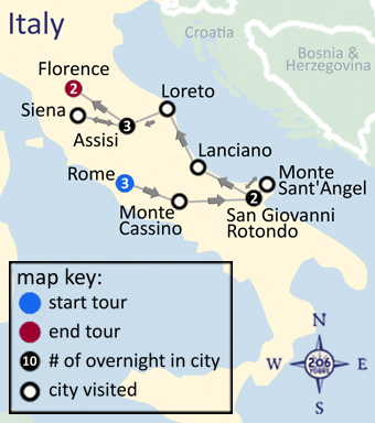 San Giovanni Rotondo Italy Map.Pilgrimage To Italy With Fr Paul T White 206 Tours